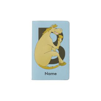 Pony Monogram Letter B Pocket Moleskine Notebook