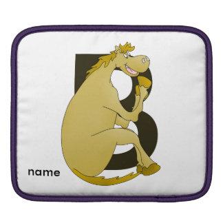 Pony Monogram Letter B Sleeve For iPads