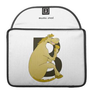 Pony Monogram Letter B Sleeve For MacBooks