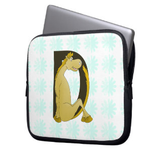 Pony Monogram Letter D Laptop Computer Sleeve