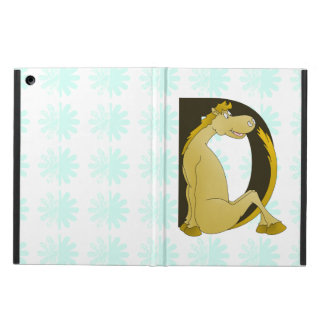Pony Monogram Letter D Personalized Cover For iPad Air