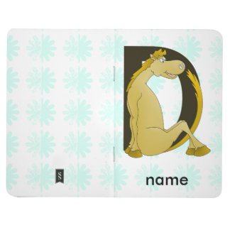 Pony Monogram Letter D Personalized Journal