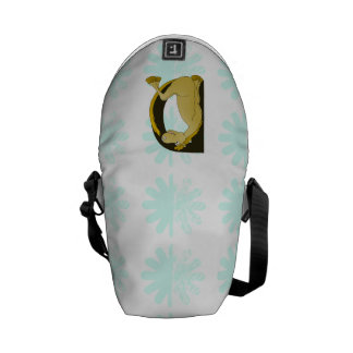 Pony Monogram Letter D Personalized Courier Bags