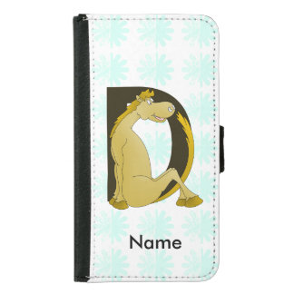 Pony Monogram Letter D Personalized Samsung Galaxy S5 Wallet Case
