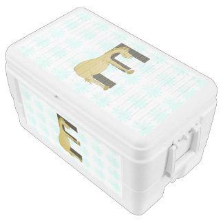 Pony Monogram Letter E Personalized Chest Cooler