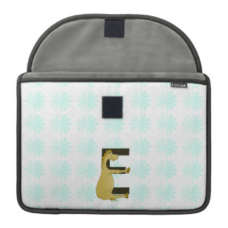 Pony Monogram Letter E Personalized MacBook Pro Sleeve