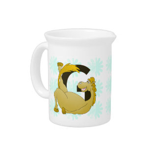 Pony Monogram Letter G Personalized Beverage Pitcher