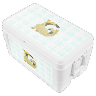 Pony Monogram Letter G Personalized Cooler