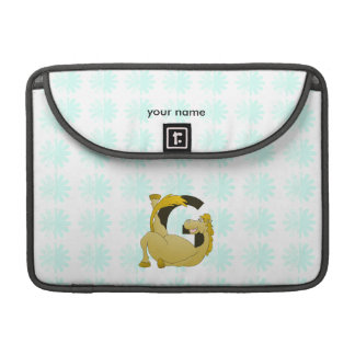 Pony Monogram Letter G Personalized MacBook Pro Sleeve