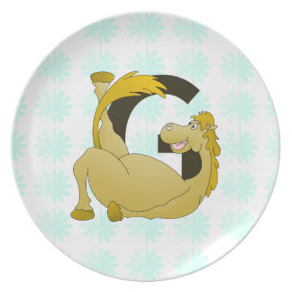 Pony Monogram Letter G Personalized Plate