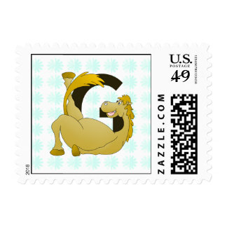 Pony Monogram Letter G Personalized Postage