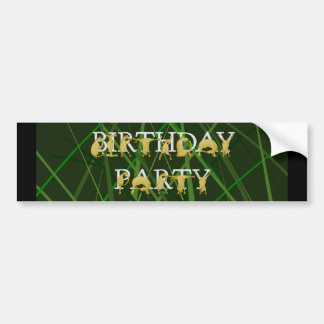 Pony party with field background bumper sticker