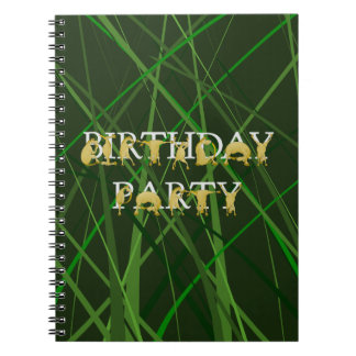 Pony party with field background notebook