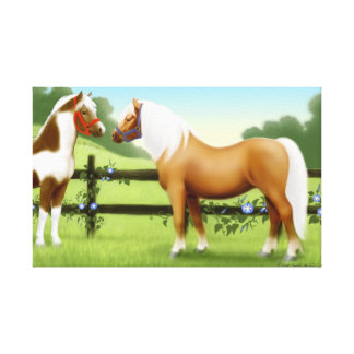 Pony Pasture Friends Wrapped Canvas