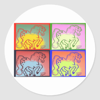 pony Photo 1109 Classic Round Sticker