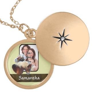 Pony photo template locket necklace