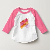 Pony pink orange art t-shirt