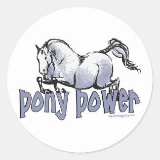 Pony Power Classic Round Sticker