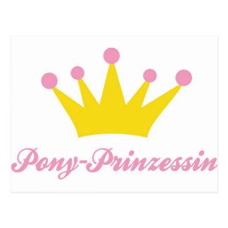 Pony Prinzessin Postcard