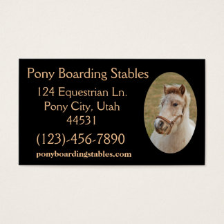 Pony Sample1 Business Card