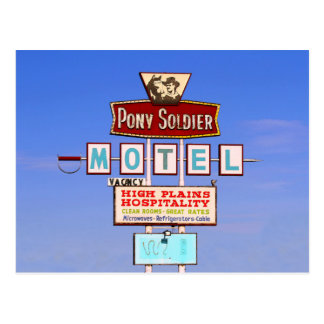 Pony Soldier Motel Sign, Tucumcari, N.M. Postcard