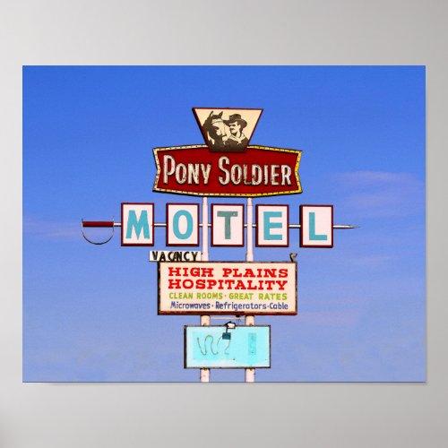 Pony Soldier Motel Sign, Tucumcari, N.M. Poster