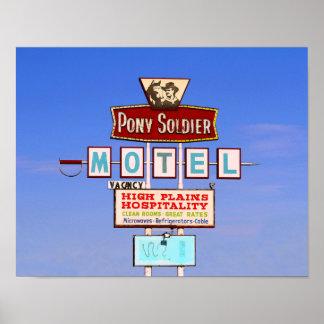 Pony Soldier Motel Sign, Tucumcari, N.M. Print