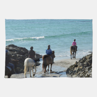 Pony trekking along the beach kitchen towels