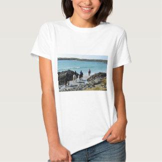 Pony trekking along the beach t shirts