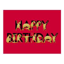 Pony wishing you happy birthday post cards