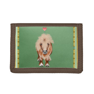 PONY-with a heart Tri-fold Wallets