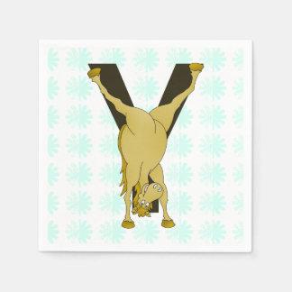 Pony Y Personalized Monogram Napkin