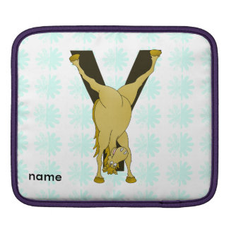 Pony Y Personalized Monogram Sleeve For iPads
