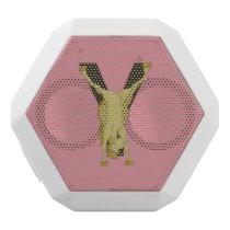 Pony Y Personalized Monogram White Bluetooth Speaker