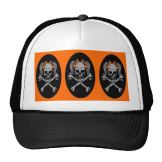 Ponytail skull Triple X Trucker Hat