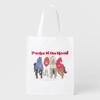 Ponyz N Da Hood Grocery Bag