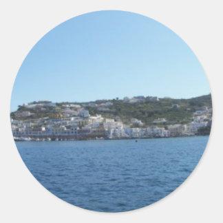 Ponza From The Sea Classic Round Sticker