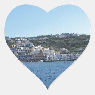 Ponza From The Sea Heart Sticker