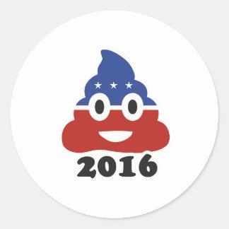 Poo 2016 - - pegatina redonda