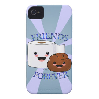 Poo and Toilet Paper BFFS Case-Mate iPhone 4 Case