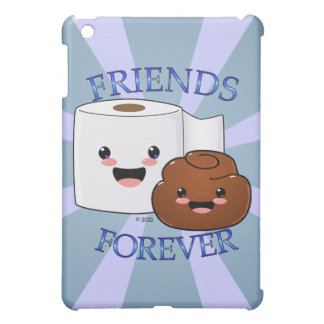 Poo and Toilet Paper BFFS Cover For The iPad Mini