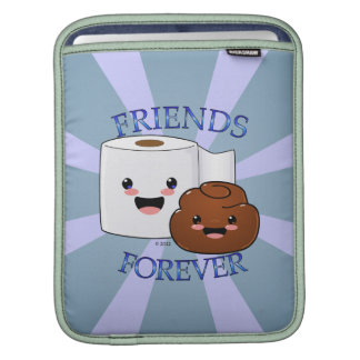 Poo and Toilet Paper BFFS iPad Sleeves