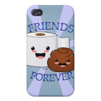 Poo and Toilet Paper BFFS iPhone 4/4S Case