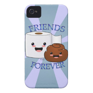 Poo and Toilet Paper BFFS iPhone 4 Case