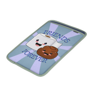 Poo and Toilet Paper BFFS Sleeves For MacBook Air