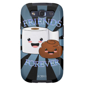 Poo and Toilet Paper Friends Forever Samsung Galaxy S3 Cover