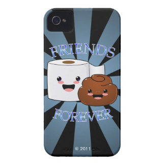 Poo and Toilet Paper Friends Forever iPhone 4 Case