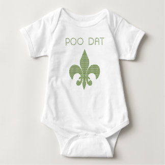 POO DAT with Chevron print Infant Creeper