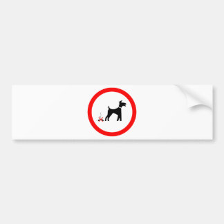 poo del perro del no_fouling_Vector_Clipart Etiqueta De Parachoque