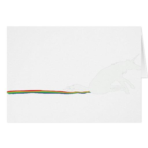poo del unicornio tarjeta de felicitación